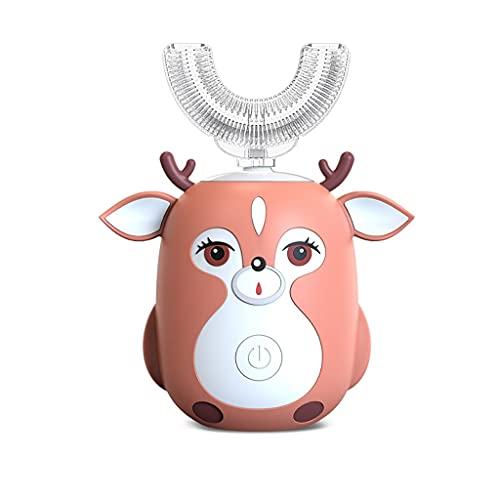 WXIANG Cepillo Dientes Cepillo de Entrenamiento eléctrico para niños Cabezal de Gel Suave para 2-6 Edades Baby Baby Toddler Sprint Automatic Sprint Cepillo de Dientes Suave (Color : Pink)