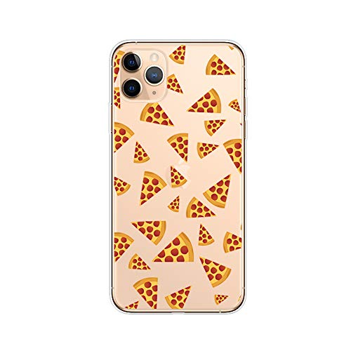 iPhone 11 Pro Max (6.5 inch) Case,Blingy's Fun Food Style Transparent Clear Soft TPU Protective Case Compatible for iPhone 11 Pro Max 6.5' 2019 Release (Pizza Style)
