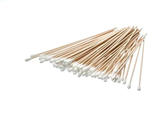 "SE 6"" Cotton Swabs with Wooden Handles (5 Pack of 100) - CS100-6-5"