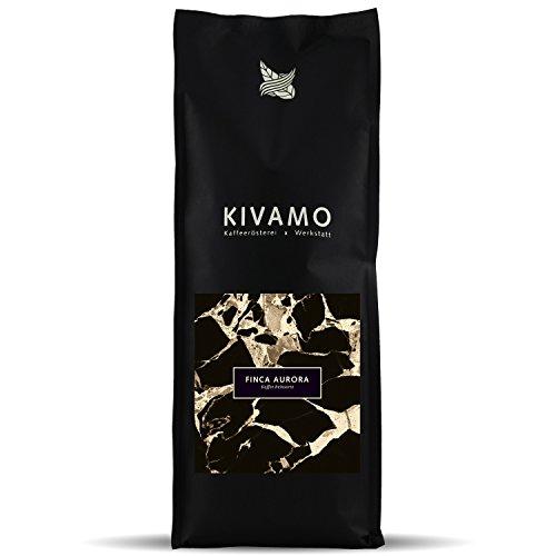 KIVAMO Röstkaffee Finca Aurora, 100% ganze Arabica Bohnen, säurearm und harmonisch im Geschmack, 2 x 1kg Frischepack