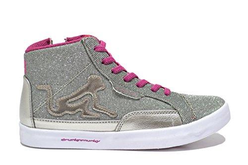 DrunknMunky Sneakers Silver Schuhe Mädchen Detroit BRIGHTERS 172, Silber - silber / schwarz - Größe: 38 EU