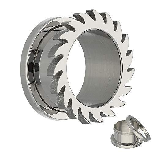 Treuheld Flesh Tunnel - Stahl - Silber - Kreissäge 12 mm
