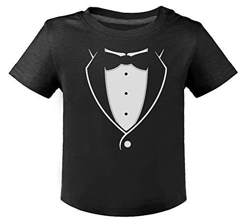 Green Turtle T-Shirts Camiseta para niños - Smoking con Corbatín Negro - Camiseta con Graciosos diseño para niños 18M Negro