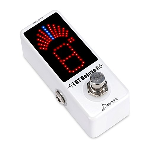 Donner - DT Deluxe Afinador Sintonizador para Guitarra Pedal de Efectos True Bypass