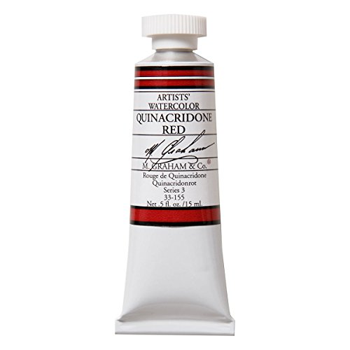 M. Graham 1/2-Ounce Tube Watercolor Paint, Quinacridone Red