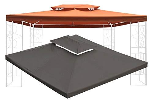 habeig WASSERDICHT Ersatzdach 3x4m Dach 340g für Pavillon Kaminabzug Pavillondach PVC (Terrakotta #43)