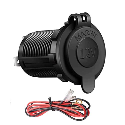 12V Cigarette Lighter Socket for Car Automotive Marine Motorcycle ATV RV, CBsana Lighter Socket, Power Outlet Socket Receptacle with Waterproof Plug