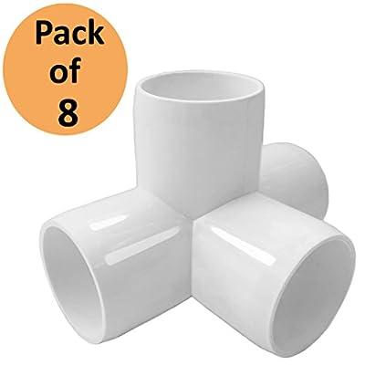 4 Way Tee PVC Fitting Elbow - Build Heavy Duty PVC Furniture - PVC Elbow Fittings