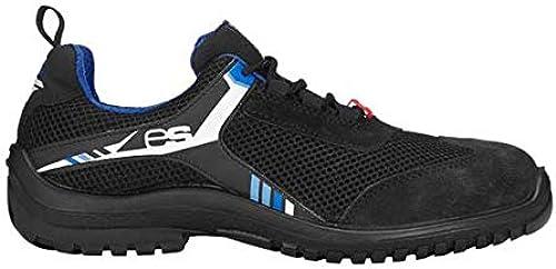 Enjauneert 8P93.60.5.36 Naos Chaussures basses de sécurité Noir bleu blanc Taille 36