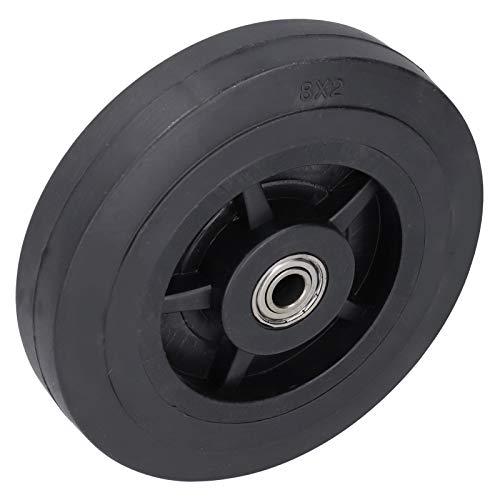 Mxzzand Práctica Rueda de Goma silenciosa de Rueda de neumático de 8 Pulgadas para Carro generador de Gasolina de Granja agrícola