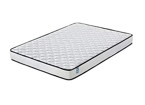 Home Treats Gesteppte Taschenfederkern-Matratze, weiß, Deluxe-Federkernmatratze für Komfort (kleines Doppelbett)