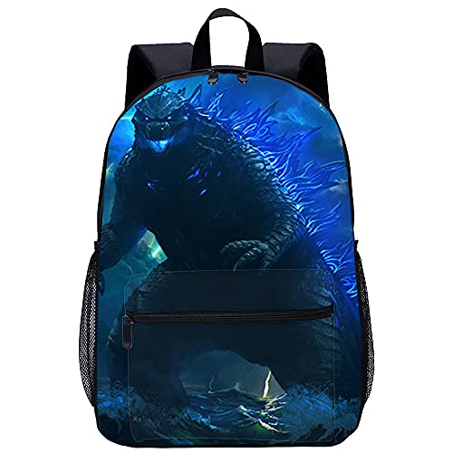Mochila Infantil 3D Mochila Infantil -Godzilla-Adecuado para: estudiantes de primaria y secundaria, la mejor opción para viajes al aire libre-Tamaño: 45x30x15 cm   17 pulgadas-Mochila Infantil para