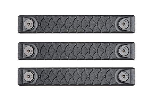RailScales High Temp Polymer HTP Scales – KeyMod (3 Pack) (KeyMod 3 Pack, Dragon Black)