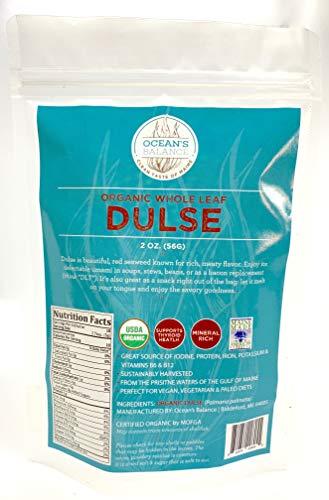 Ocean's Balance, Dulse Whole Leaf Organic, 2 Ounce