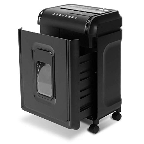 AmazonBasics 8-Sheet High-Security Micro-Cut Shredder with Pullout Basket (Renewed)
