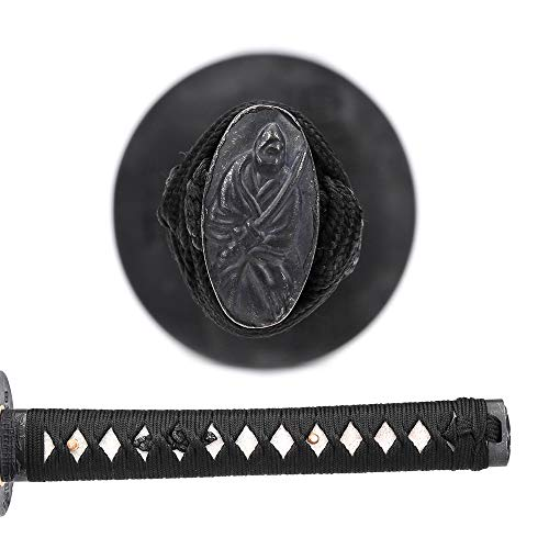 siwode YuShanGuanJin Handmade Full Tang Sharp Sword, Alloy Tsuba Japanese Ninja Samurai Katana (High Carbon Steel 1060) Bo-Hi 40-Inch