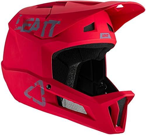 Leatt Casque MTB 1.0 DH Casco de Bici, Unisex Adulto, Rouge Chilli, Large