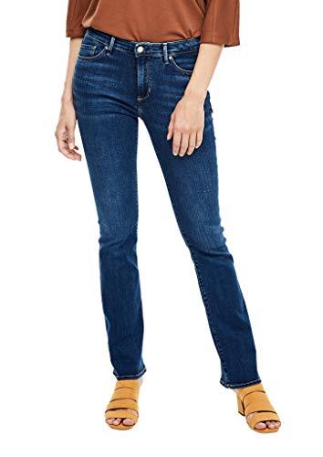 s.Oliver Damen Slim Fit: Bootcut leg-Jeans dark blue 44.30