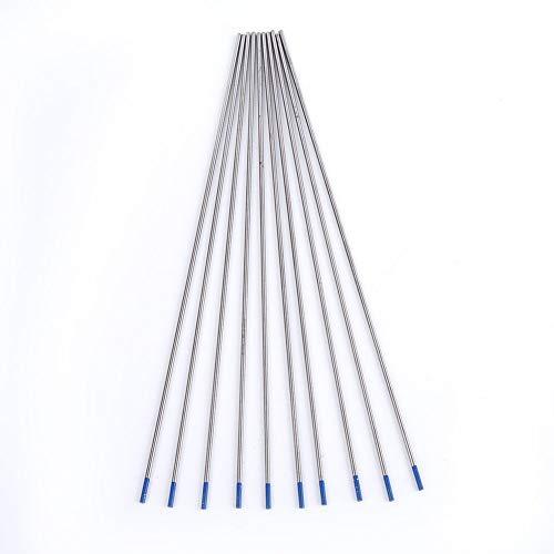 10 pcs 1.0/1.6/2.4mm Tungsteno WL20 TIG Electrodos de Soldadura Electrodo Lantanado Conjunto de Herramientas de Punta Azul(1.0 * 150mm)