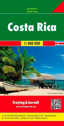 Image OfCosta Rica Road Map FB 1:400K (English, Spanish, French, Italian And German Edition)