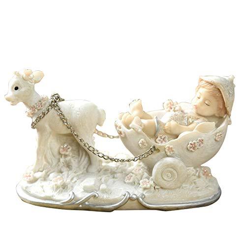 JYJYJY Estatuas Figuritas Decoración Little Angel Child Figurine Girl Princess Resin Craft Miniatura Decoración Europea para El Hogar Decoración para El Hogar Accesorios