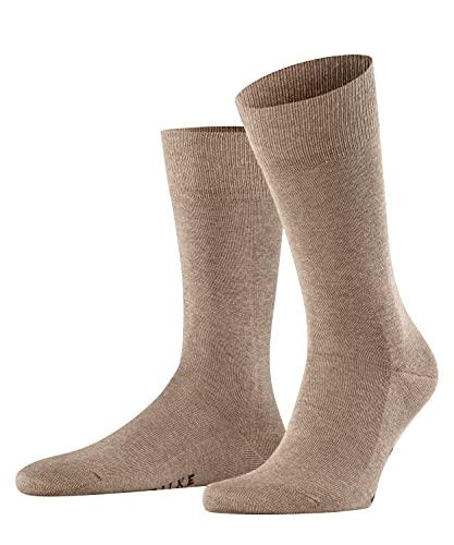 FALKE Herren Family M SO Socken, Blickdicht, Braun (Nutmeg Melange 5410), 43-46 (2er Pack)