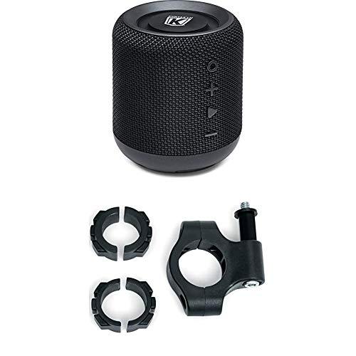 "Kuryakyn 1952 SideKix Plus Portable Waterproof Dual Bluetooth Speaker + 1955 Handlebar Mount kit for 7/8"", 1"", and 1 1/4"" Diameter Bars"