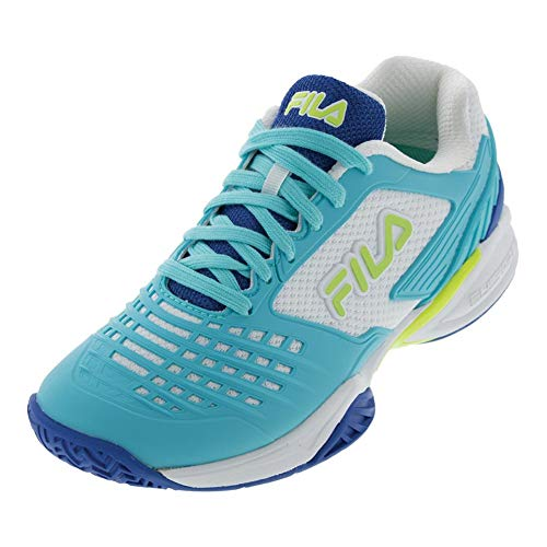 Fila Axilus 2 Energized Damen Tennisschuh, (Electric Blue Lemonade/Fila Marineblau/Weiß), 41 EU