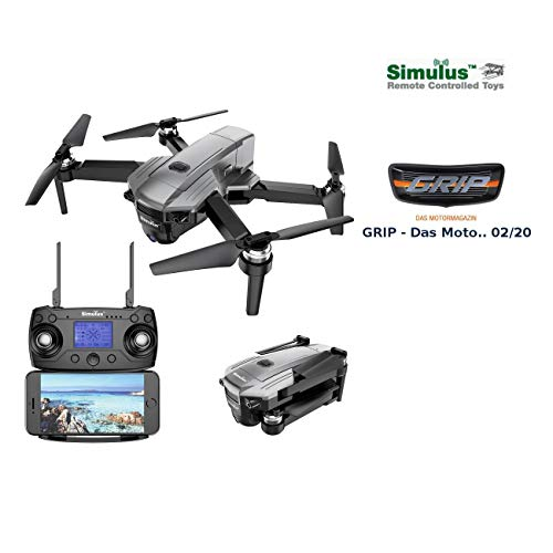 Simulus Drohne: Faltbarer GPS-Quadrocopter mit Brushless-Motor, 4K-Cam, WLAN und App (GPS Drohne)