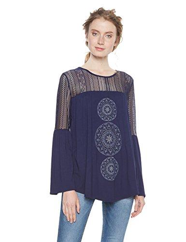 Desigual TS_neusifu Camiseta, (Navy 5000), Medium para Mujer