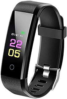 Reloj inteligente, pulsera de fitness con pulsómetro, resistente al agua IP67, rastreador de fitness, pantalla a color, reloj de fitness, rastreador de actividad, podómetro, monitor de sueño