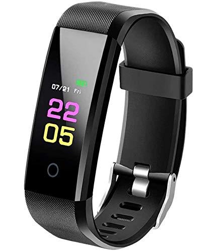 MACLY SmartBand Aktivitäts Tracker mit Blutdruckmessung, Smartwatch Fitness Tracker mit Pulsmesser Wasserdicht IP67 Fitness Uhr Pulsuhr Schrittzähler Uhr Kalorien für Damen Herren
