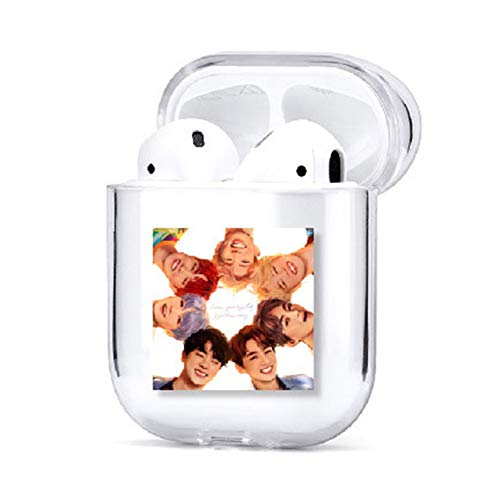 Goth Perhk KPOP Hlle fr AirPods 1/2, Bangtan Boys Cover fr AirPods 1/2 tragbar & schtzend transparent Cover Case fr AirPods, 0, H01