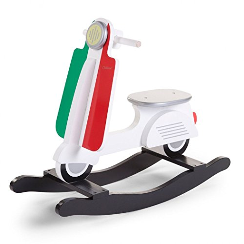 Childhome schommel scooter Italy Wit rood groen