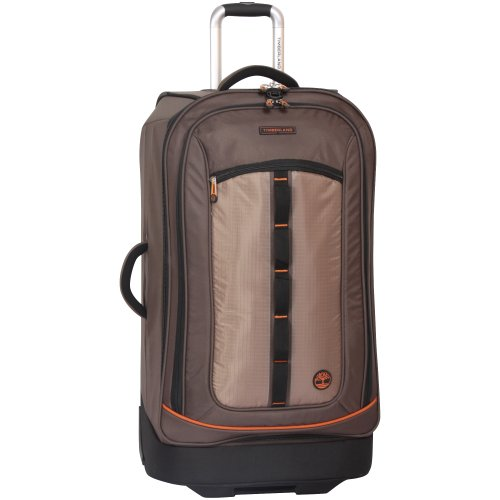 Timberland Wheeled Duffle Bag - 30 Inch Lightweight Large Rolling Luggage Travel Bag Suitcase for Men, Cocoa brown