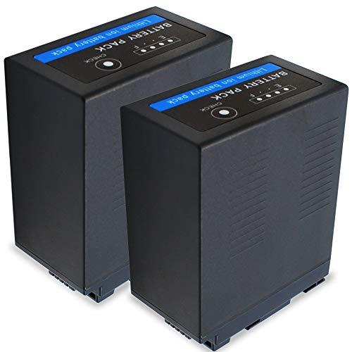 CELLONIC 2X Batería Compatible con Panasonic HC-X1000 HC-X1 AG-CX350 AG-DVX200 AG-AC30 -AC8 AG-UX180 HC-MDH2 -MDH3 AJ-PX270 AG-HPX250, VW-VBD29 VW-VBD58 VW-VBD78 CGA-D54 AG-VBR59 7800mAh bateria