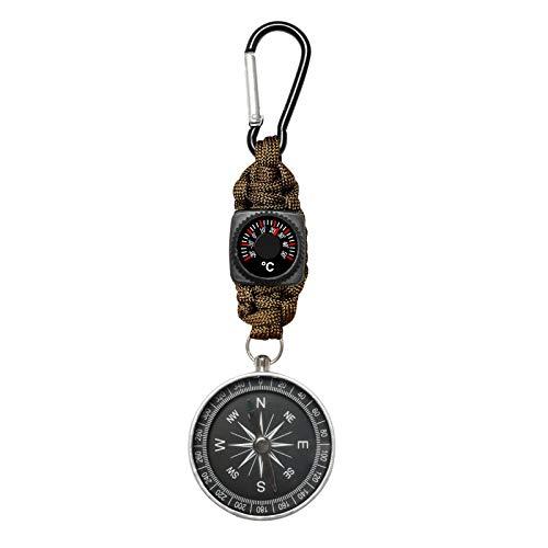 KNMY Kompasse Outdoor, Kompass Schlüsselanhänger 4-in-1 Multifunktionsgerät, Kompass Karabiner Gute Geschenkauswahl, Kompass Wanderführerfür Camping Jagd und Aktivitäten im Freien (Armeegrün)