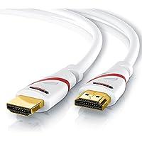 CSL - 10m Cable HDMI - Ultra HD 4k HDMI - Alta Velocidad con Ethernet - Full HD 1080p 4K Ultra HD 2160p 3D ARC y CEC - Cable de blindaje Triple - blindaje de Conector y contactos