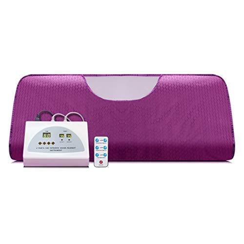 Lofan Heat Sauna Blanket Portable Personal Sauna Far-Infrared for Relaxation at Home, Purple