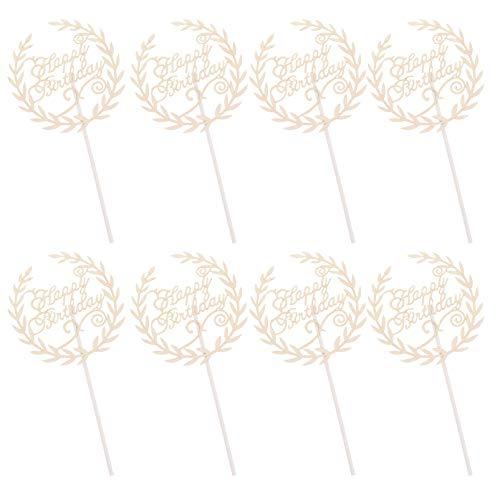 STOBOK 30 StüAlles Gute zum Gertstag Kuchen Tpper Glitter Cupcake Tpperert PIS Kuchen Dekratinen für BabyparGertstagsfeier Lieferungen