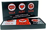 Talk, Flirt, Dare! Fun and Romantic Game for Couples: Conversation Starters, Flirty Games and Cool Dares. Deepen Relationship with Your Partner. Perfect Couples Gift!