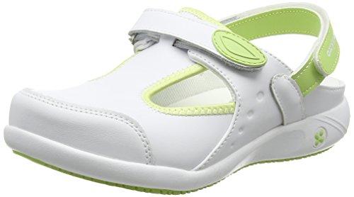 Oxypas CARIN Damen Sicherheitsschuhe, Weiß (Grün), 40 EU