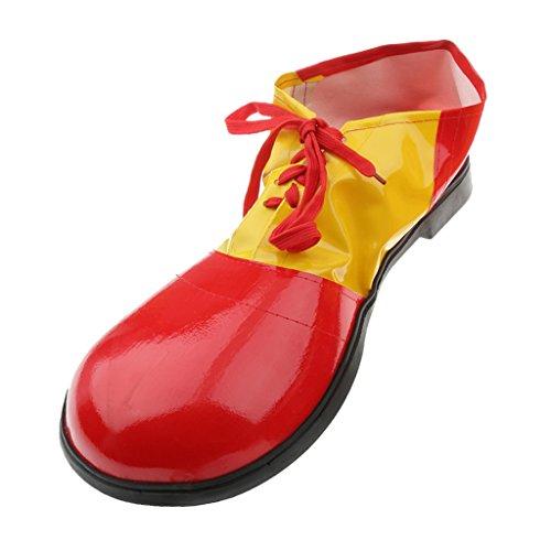1 Paire Clown Chaussures Adultes Enfants Costume de Cirque Pour Déguisement - Rouge - Rouge