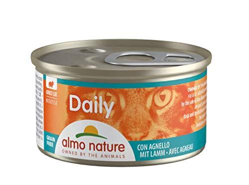 Almo Nature Daily Menu Chat Mousse avec Agneau 85 g (Lot de 24)