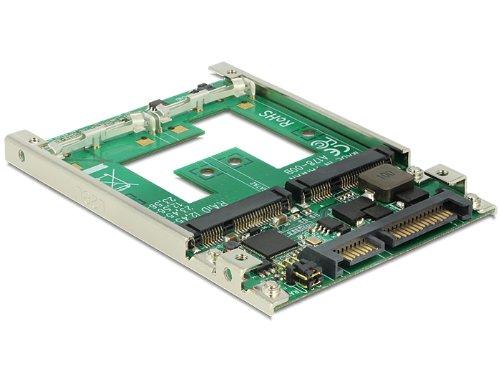 DELOCK Konverter SATA 22 Pin > 2 x mSATA 6,35cm 2,5Zoll mt RAID 7 mm