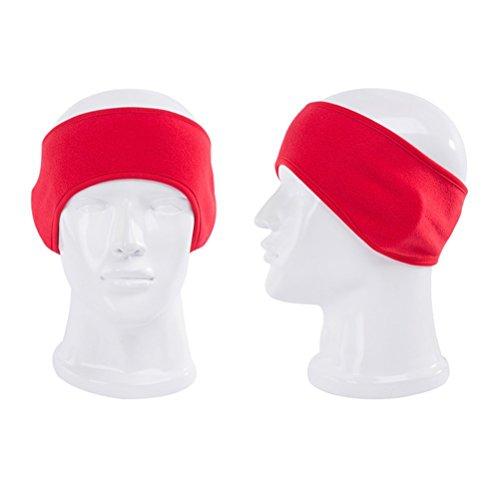 PIXNOR Bandeaux pour hommes et femmes, Sport Serre-tête pour Running (rouge)