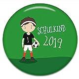 Polarkind Button Pin Anstecker Fussball Schulkind 2019 Geschenk zum Schulanfang Fußball Junge 38mm Handmade