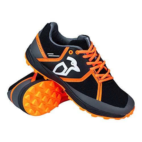 KOOKABURRA Unisex, Jugendliche Convert Hockeyschuhe, schwarz/orange, 5