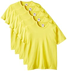 Fruit of the Loom Camiseta Hombre Cuello Redondo Pack de 5