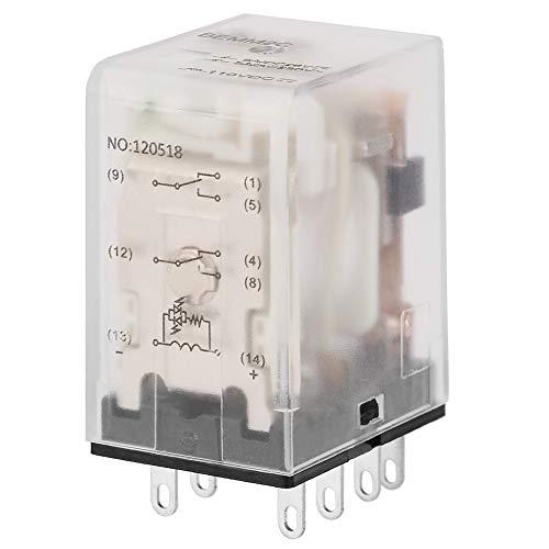 Mini relé de potencia intermedia, relé de estado sólido de 8 pin 5A relé electromagnético(110VDC)